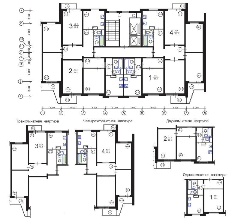 Перепланировка квартир в домах серии п 3.