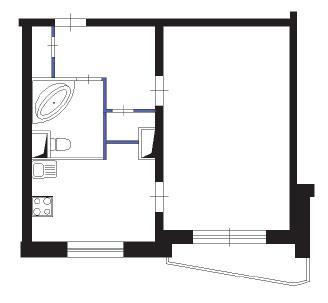 Дизайн двухкомнатной квартиры в доме серии п-44т