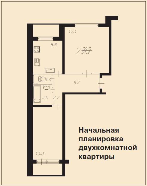 Дизайн квартира в доме п-46м