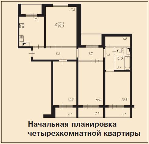 Перепланировка в домах серии п 55.