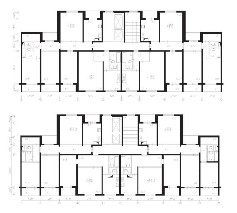 Серия п-55 планировка с размерами