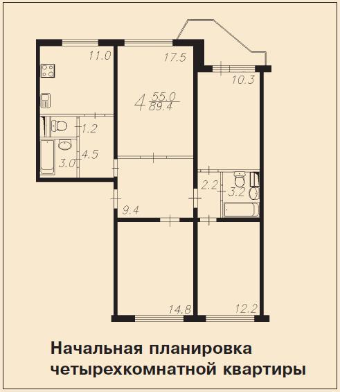 Перепланировка квартир в домах серии пд-4. согласование прое.