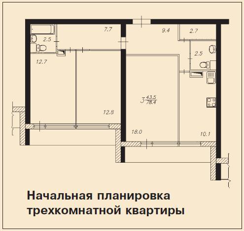 Перепланировка квартир в домах серии и 700а.
