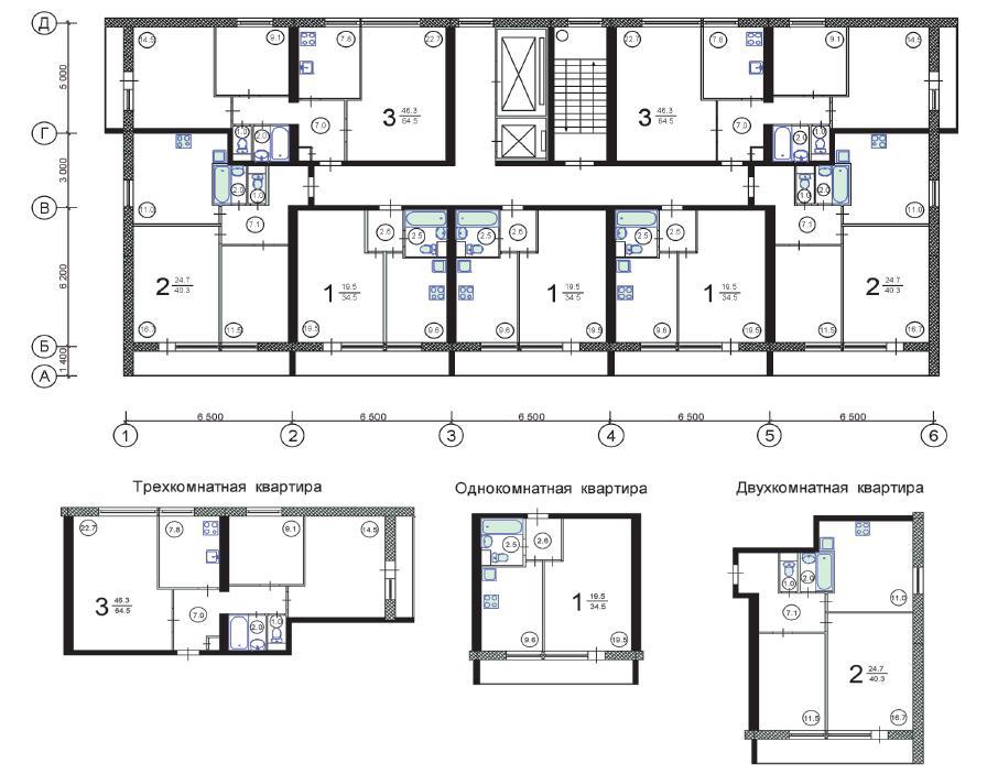 Перепланировка квартир в домах серии ii 68.