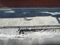 Обследование кровли / Разрушение цементной стяжки плиточного покрытия