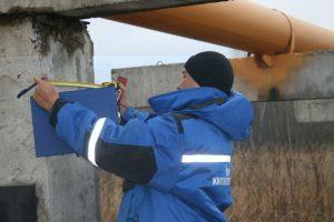 Обследование трубопровода обмерные работы