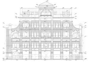 Обмерные работы. Обмер фасада здания