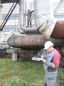 Фото 2. Обследование сооружений трубопроводов