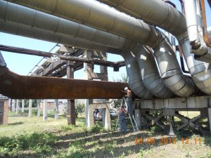 Фото 3. Обследование сооружений трубопроводов