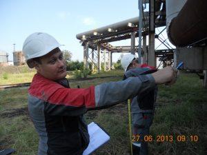 Фото 4. Обследование сооружений трубопроводов